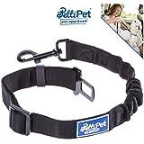 [Gesponsert]Hunde-Gurt | Sicherheits-Gurt fürs Auto | PREMIUM Markenqualität | Mehr Sicherheit für Hund & Fahrer | Edler pulverbeschichteter Verschluss Karabiner und elastische Bungee Ruckdämpfung | Idealer Autogurt-Adapter für Hunde-Geschirr | Perfekter Anschnall-Gurt | PettiPet ®