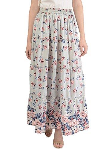 Bonhomie Women Skirts [BCQSB51_Grey Pink Print_Small]