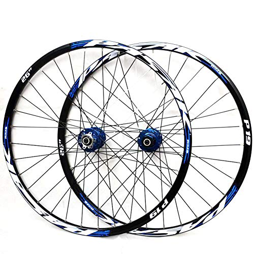 LYzpf Fahrrad Laufrad Mountainbike Rad Vorne Hinten Set Felgen Disc 26/27.5/29 Inch Zubehör Aus Aluminum Alloy,Blue,29inch (Mountainbike 29-zoll-felgen)
