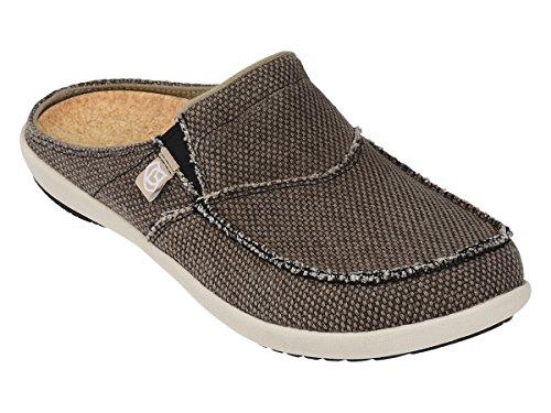14 D(M) US , Java : Spenco Men's Siesta Canvas Slide Sandal