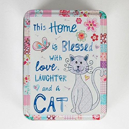 Süßer Blessed with a Cat Pastell Patchwork Aufbewahrungsdose Andenken Box