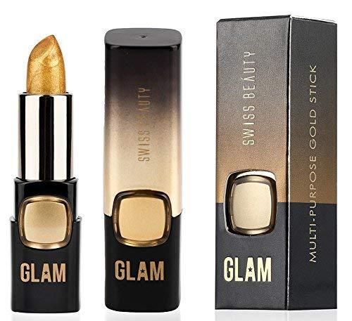 Swiss Beauty Glam Multipurpose Gold Stick - Lips Topper/Eyeshadow/Face Highlighter (3.6g)