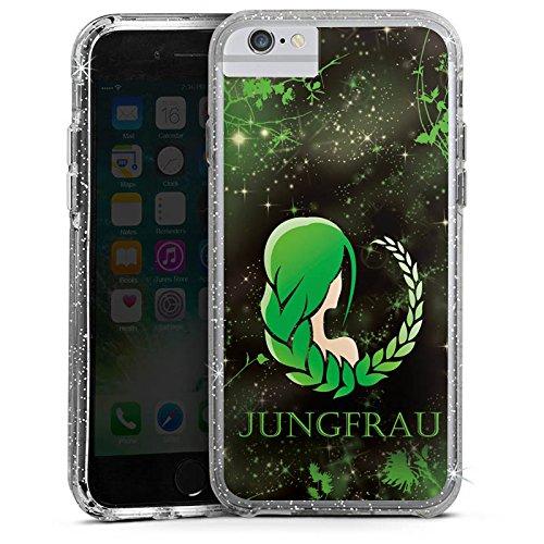Apple iPhone 6s Bumper Hülle Bumper Case Glitzer Hülle Sternzeichen Jungfrau Astrologie Bumper Case Glitzer silber