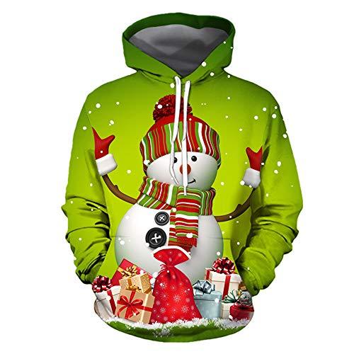 Boutique sale Weihnachten 3D-Druck Pullover Schneemann Print Large Size Baseball Uniform Männer und Frauen Paare tragen Frauen Weihnachten Print 3D Hoodie Sportjacke -