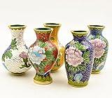Cloisonne vaso fatto a mano puro rame gomme filetto smalto vaso ornamenti