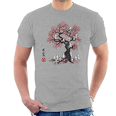 Princess Mononoke Forest Spirit Sumi E Men's T-Shirt