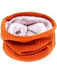 Godea Femme écharpe Tube Echarpes tricotées foulard Cercle Tubulaire Écharpe  en Grosse Maille Chaude Automne- 88eb5112ed7