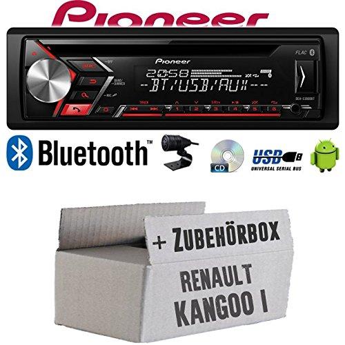 Autoradio Radio Pioneer DEH-S3000BT - Bluetooth | CD | MP3 | USB | Android Einbauzubehör - Einbauset für Renault Kangoo 1 - JUST SOUND best choice for caraudio (Autoradio Beste)