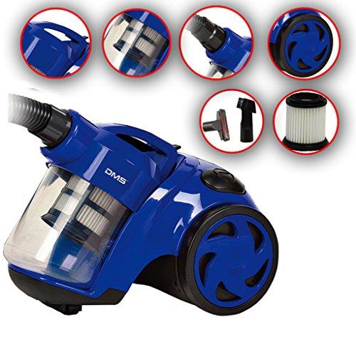 DMS® Zyklon beutelloser Staubsauger Bodenstaubsauger Hepa Filter 1600 W max. VCZ-1600 (Blau)