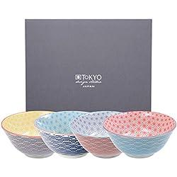 Tokyo Design Studio Star Wave Schalen Ø 15,2 cm (4er-Set)