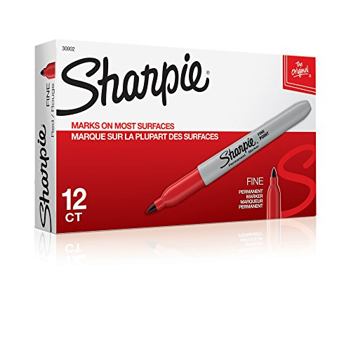 sharpie-permanent-markers-fine-point-red-12-count