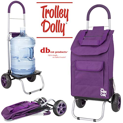 dbest products Trolley Dolly faltbar Warenkorb strapazierfähig violett (Falten Utility-dolly)