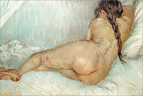 Posterlounge Forex-Platte 120 x 80 cm: Weiblicher Rückenakt von Vincent Van Gogh/akg-Images (Zopf-post)