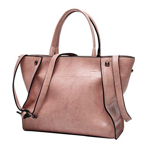 YiLianDa PU Pelle Borsa Donna Cuoio Borsa Tote a Mano a Spalla Manico Top-Handle Handbag come immagine(5)