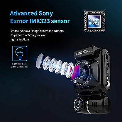 Dashcam-dual-1080P-Full-HD-Auto-Kamera-150-Grad-Weitwinkel-Vorne-Hinten-Rekorder-WDR-Nachtsicht-mit-G-Sensor-Loop-Aufnahme-LCD-Anzeige