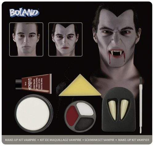 Einfach Halloween De Costume (Boland 45083 - Schminkset Vampir Farben, Schwamm, Pinsel und)