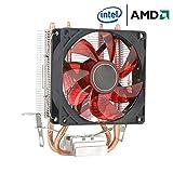 MasterCOOLER Aria più Fresca 400 CPU, con Quattro Tubi di Calore, Ventola da 120mm PWM E Il LED, per La CPU Intel/AMD (AM4 Compatible) Rosso