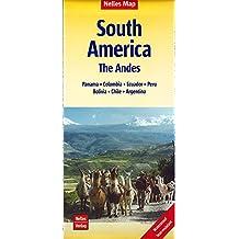 Nelles Map Landkarte South America: The Andes: reiß- und wasserfest; waterproof and tear-resistant; indéchirable et imperméable; irrompible & impermeable | 1:4,5 Mill. (Nelles Map / Strassenkarte)