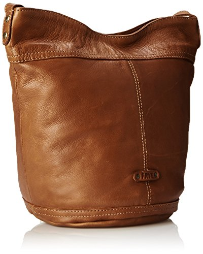 FRYE Tricia Weave Bucket Cross-Body Bag Whiskey
