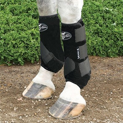 Professionals Choice Equine Sports Medicine Boot, Hand (Large, Black) by Professional 's Choice -