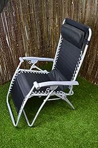 Lounger / Recliner / Relaxer Reclining Chair Textoline For Garden Or Patio