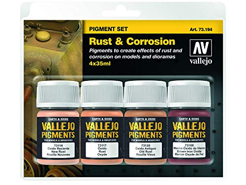 Vallejo Pigments Set 73194 Rust & Corrosion (4) -
