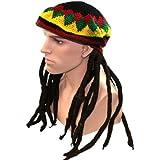 Sombrero Rasta Méga Funky fiestas XXL Rasta peluca rasta con gorro niño Jamaica Bob Marley Look volumineux disfraz trenza Rasta Fantasía