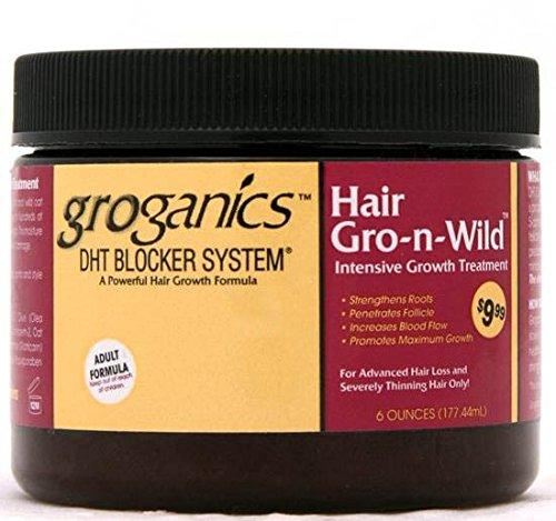 Groganics DHT Système de blocage des cheveux Gro-n-wild * * Traitement intensif Croissance 170,1 gram
