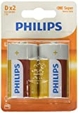 Philips LongLife Battery R20L2B/10 - non-rechargeable batteries (Zinc-carbon, 1.5 V, Green, White, 34.2 mm, 34.2 mm, 61.5 mm)