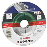 Bosch 2609256332 DIY cutting discs metal 115 mm ø x 2.5 mm cranked, set of 5