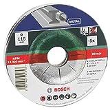 Bosch 2609256332 5 disques à tronçonner à moyeu dÃportà pour MÃtaux Diamètre 115 mm Diamètre d'alÃsage 22,23 Epaisseur 2,5 mm