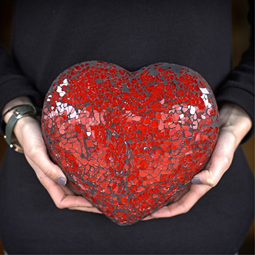 Red Glass Mosaic Heart Decoration