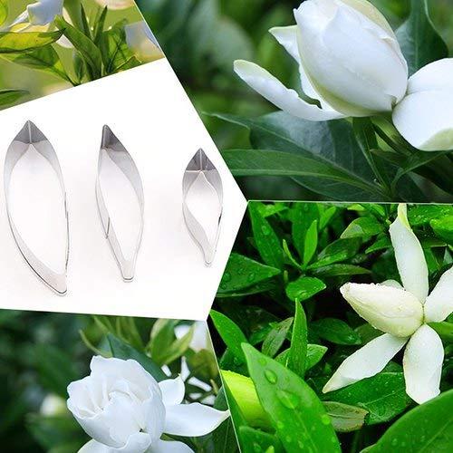 WZhen Edelstahl Zucker Geschnitten Form Gardenia Blütenblätter Schimmel - Blatt Schneiden