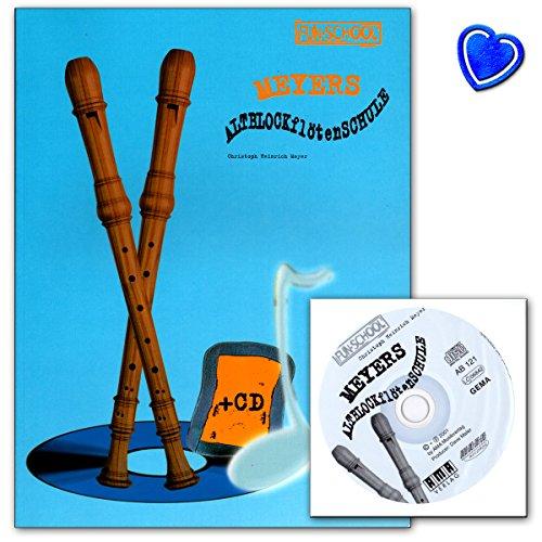 Meyers Flauta dulce alto Colegio con CD–Vía de la Soprano perfecta para flauta dulce alto–Libro con CD y Bunter herzförmiger Ordenador Pinza