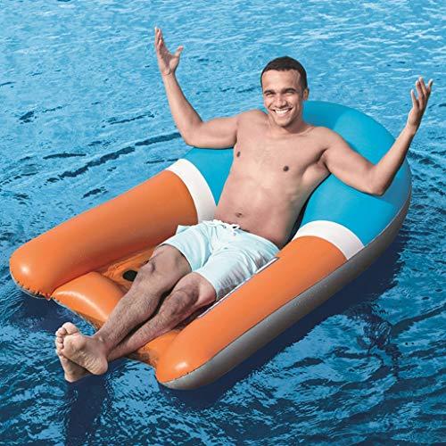blasbare Schwimmbecken-Liegen, Sommer-Strandfest-Aufblasbares Pool-Floss-Floß Für Erwachsene Kinder ()