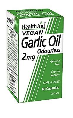 HealthAid Garlic Oil 2mg - 60 Vegicaps by HealthAid