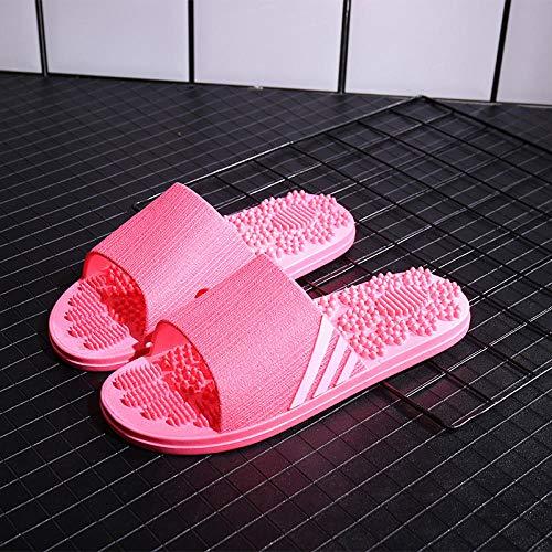 Bade Latschen,Hausschuhe mit bequemem Massageboden, Sandalen mit weichem Boden für das Bad, West red_38-39,Fussreflexzonenmassage Massage Flip Flops Für ()
