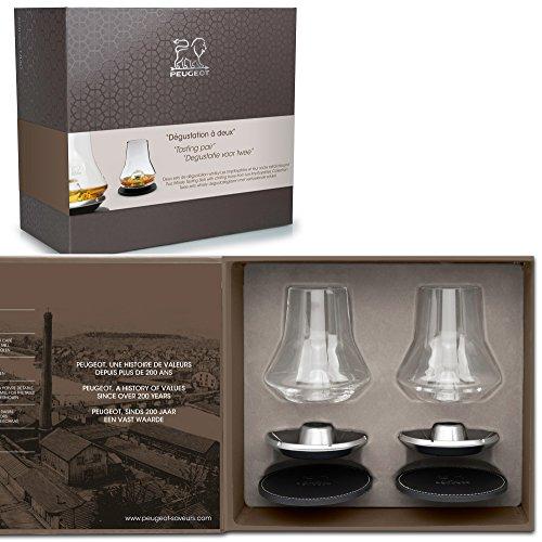 Peugeot 250348Verkostung, Zwei Box Weihnachten Whisky, Glas, Transparent, 26,2x 13,2x 23,5cm