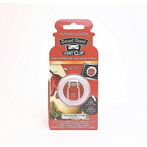 Yankee Candle Profumatore per Auto Vent Clip, Cranberry Pear, 1