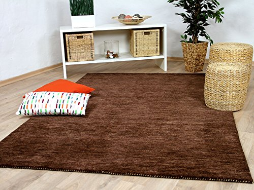 Preisvergleich Produktbild Theko Natur Teppich Indo Gabbeh Ella Braun in 8 Größen