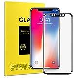 Schutzfolie für iPhone X, Vkaiy iPhone X Panzerglas, 9H Härte, 3D Touch Kompatibel, Anti-Kratzen...