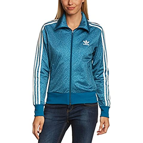 """Adidas - Felpa da donna """"Firebird"""", Blu (Tribe Blue S14/Running White), 38"""
