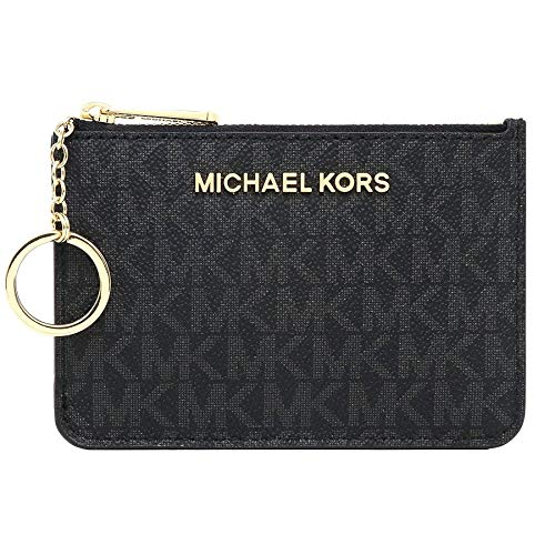 Michael Kors Jet Set Travel Small Top Zip Coin Pouch ID Card Case Wallet (Kors Michael Frauen Heels)
