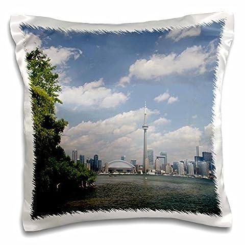 Danita Delimont - Skylines - Skyline, CN Tower, Toronto, Ontario, Canada - CN08 CMI0055 - Cindy Miller Hopkins - 16x16 inch Pillow Case (pc_135354_1)