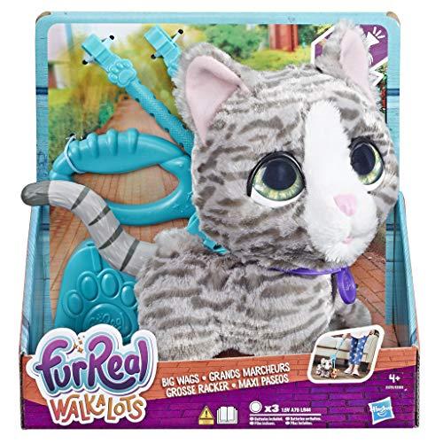 Hasbro FURREAL Friends E4781ES2 Großer Racker Lucky, niedliche Katze für tollen Gassi-Spaß, Multicolor