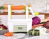 Spiralschneider für Gemüse Twinzee - mit 4 auswechselbaren Klingen - Innovatives Design für eine optimierte Aufbewahrung - Der beste Spiralschneider, um aus Früchten und Gemüse Spaghetti, Spiralen sowie Band- und Fadennudeln zu machen Bild 1