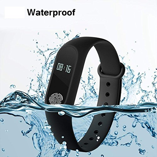 Vivo Y53 compatible m2 smart band heart rate with sensor and features like water proof sweat free wireless bluetooth fitness watch bands pedometer sleep monitoring functions support all android smartphones and apple ios iphone mobile Black color by MicroBirdss