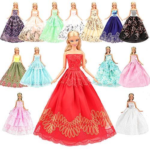 Miunana 5 pcs moda premium fatto a mano morbido matrimonio abiti vestiti per la festa per 11.5 pollici / 28 - 30 cm bambola per regalo