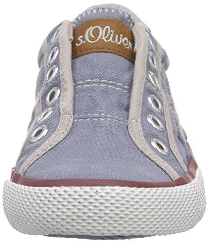s.Oliver Unisex-Kinder 43203 Low-Top Blau (DENIM 802)