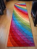 Candy Multicoloured Rainbow Design Rug. Available in 6 Sizes (67cm x 120cm)